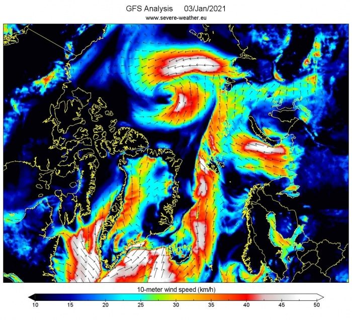 arctic-circle-pressure-and-wind-speed-forecast
