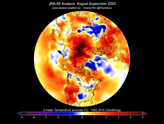 arctic-sea-ice-winter-2020-2021-jet-stream-united-states-europe-august-september-temperature-anomaly