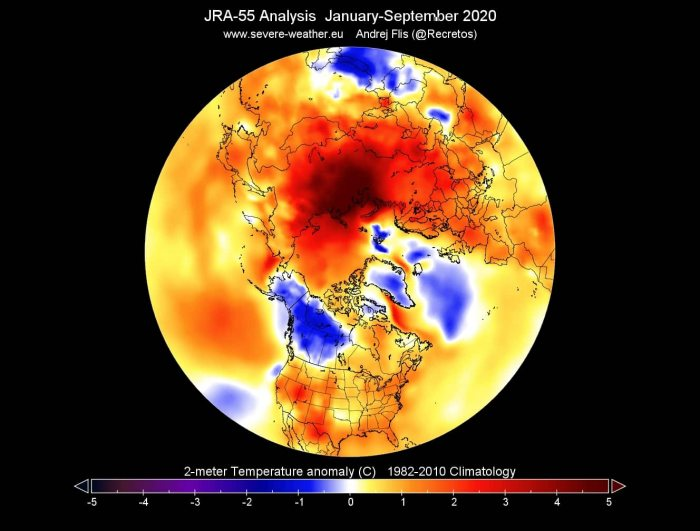 arctic-sea-ice-winter-2020-2021-jet-stream-united-states-europe-january-to-september-temperature-anomaly