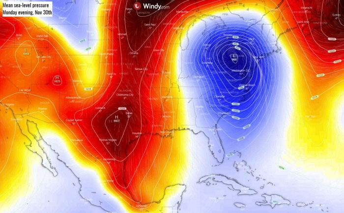 cold-forecast-southeast-united-states-florida-pressure-monday-evening