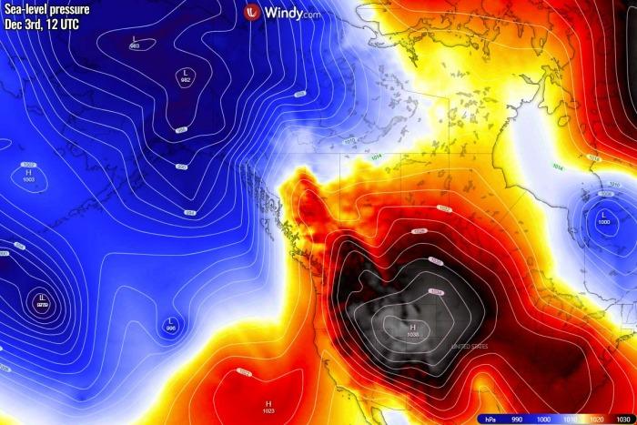 extreme-warmth-canada-north-america-presssure-thursday