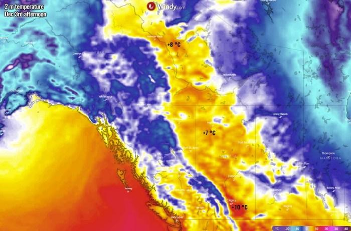 extreme-warmth-canada-north-america-thursday-maximum-temperature
