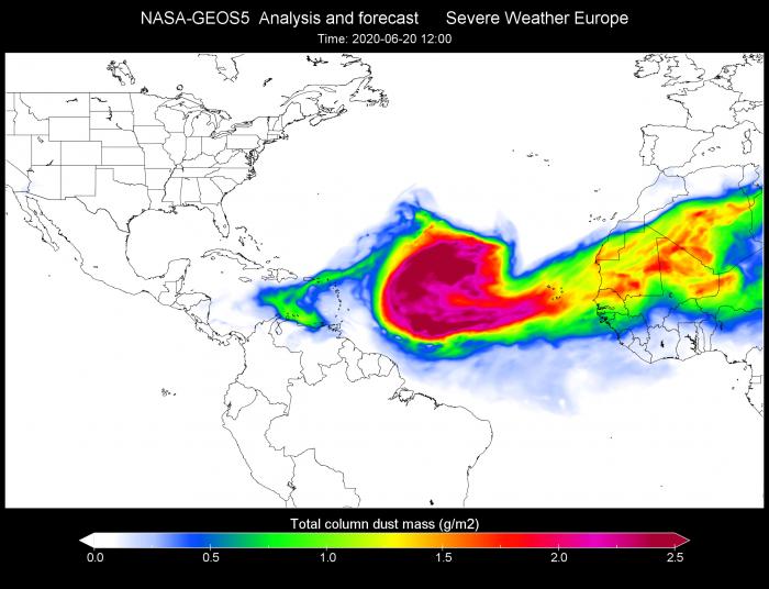 nasa-dust-forecast-june-2020