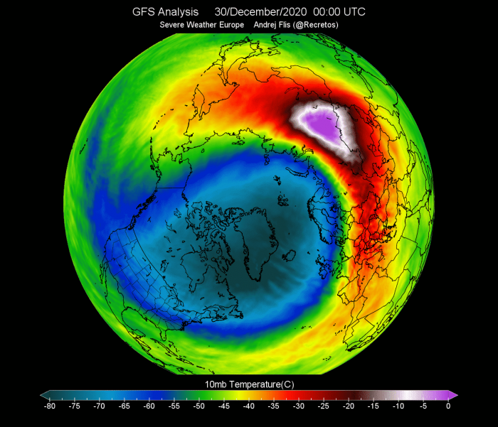 polar-vortex-splitting-weather-winter-united-states-europe-peak-temperature-stratospheric-warming