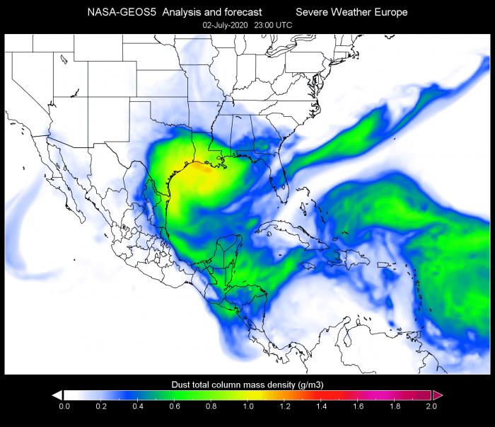 saharn-dust-cloud-usa-gulf-of-mexico-july-2