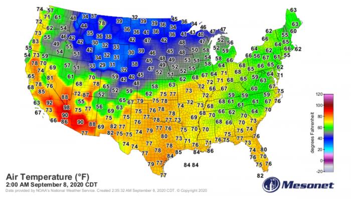 santa-ana-wildfires-temperature-map