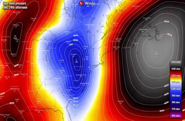 white-christmas-united-states-arctic-blast-forecast-pressure-thursday