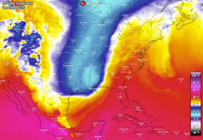 white-christmas-united-states-arctic-blast-forecast-temperature-thursday
