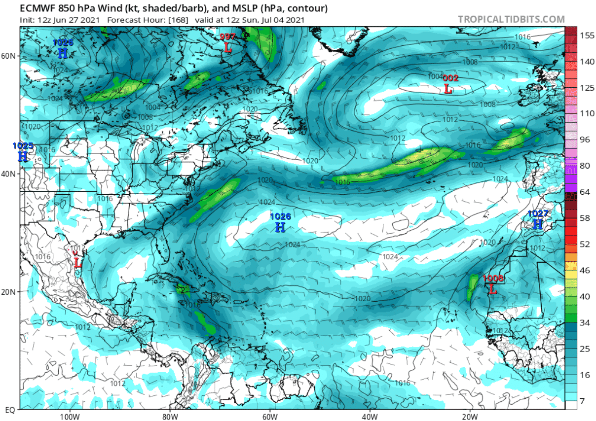 saharan-dust-cloud-atmospheric-pressure-and-winds-forecast-july-04-north-atlantic
