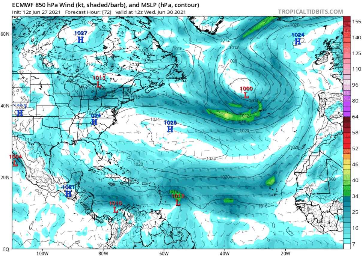 saharan-dust-cloud-atmospheric-pressure-and-winds-forecast-june-30-north-atlantic