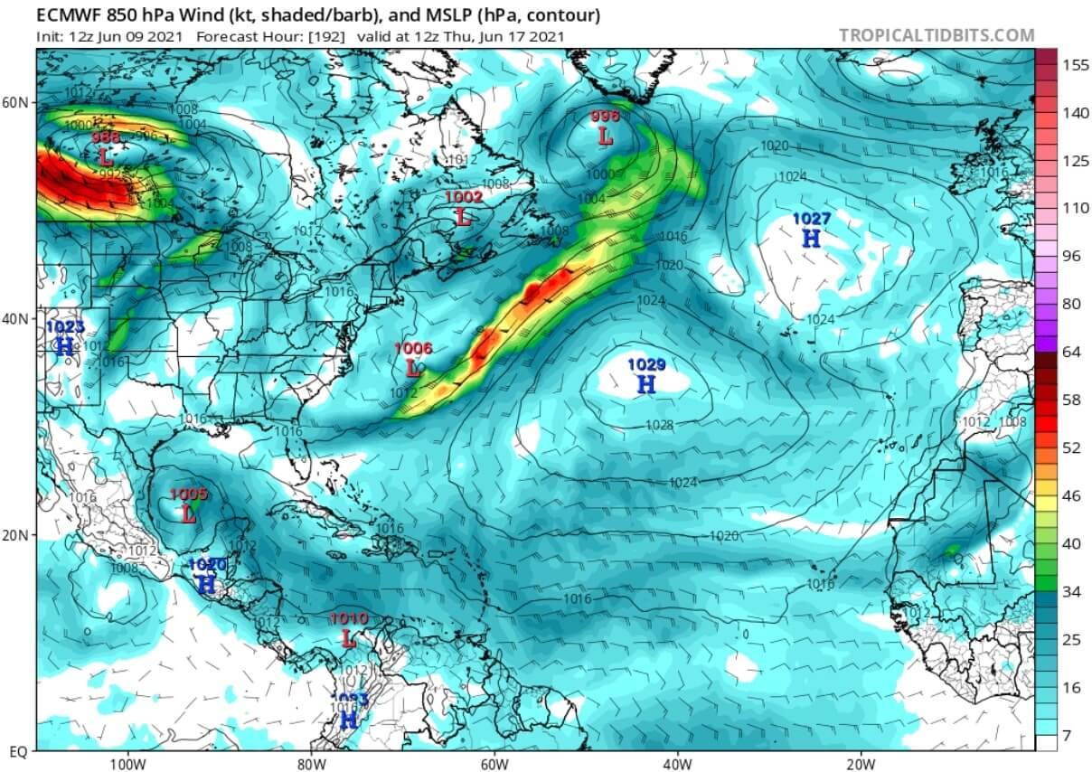 saharan-dust-cloud-event-2021-atmospheric-pressure-and-winds-forecast-june-17-north-atlantic