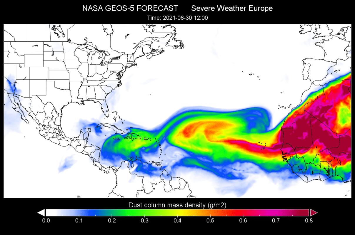 saharan-dust-cloud-june-30-forecast-nasa-geos-atlantic-united-states