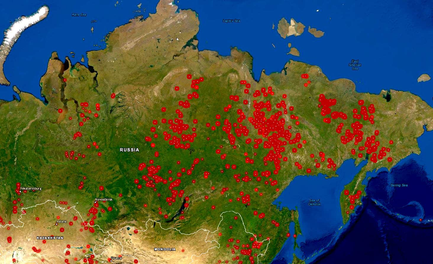Picture of: Siberia Wildfires In Dramatic Increase Smoke Cloud Reaches Canada Us