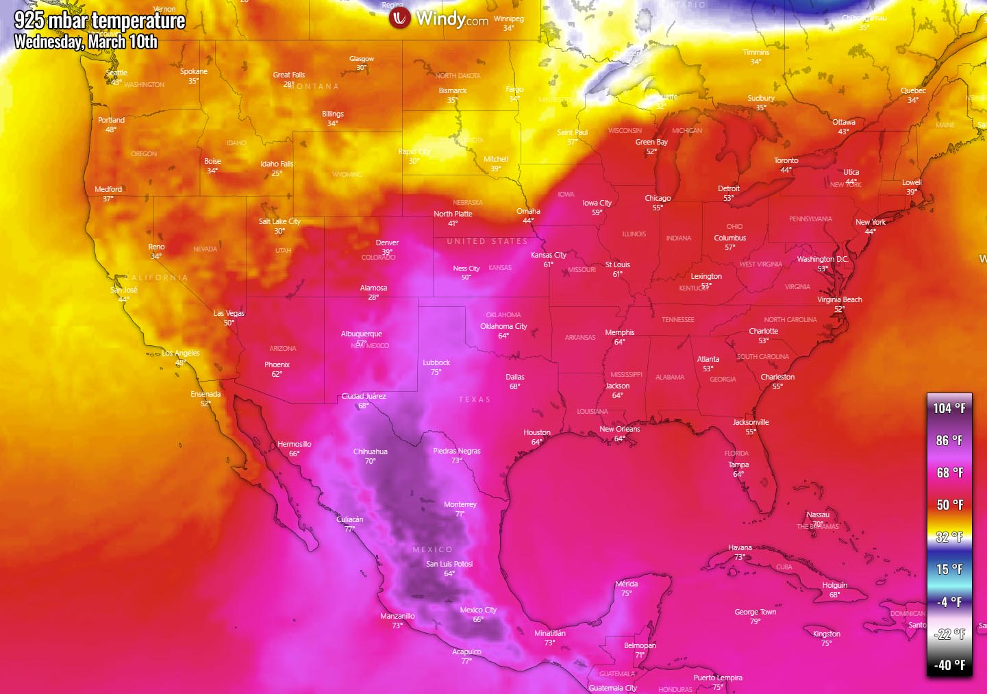 united-states-pattern-change-severe-weather-warm-wave-mid-week