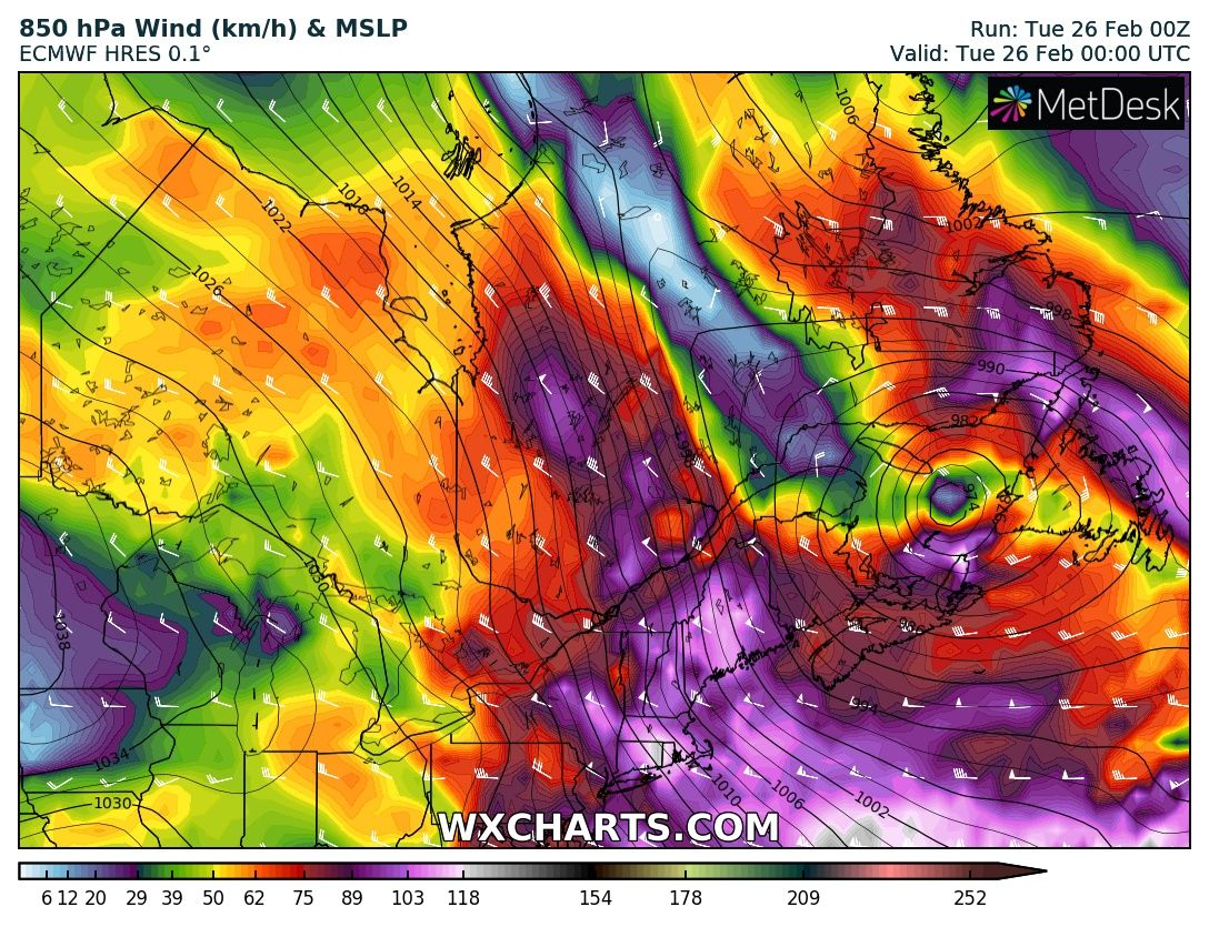 An incredible windstorm with gusts up to 275 km/h at the Mt