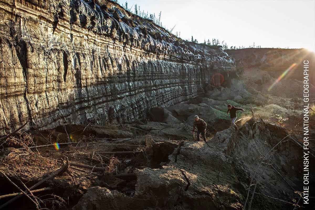 siberia-thawing-permafrost-batagaika-crater-wall-rrc