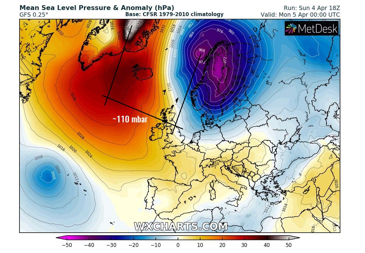 arctic-cold-blast-frost-snow-100mbar-pressure-difference