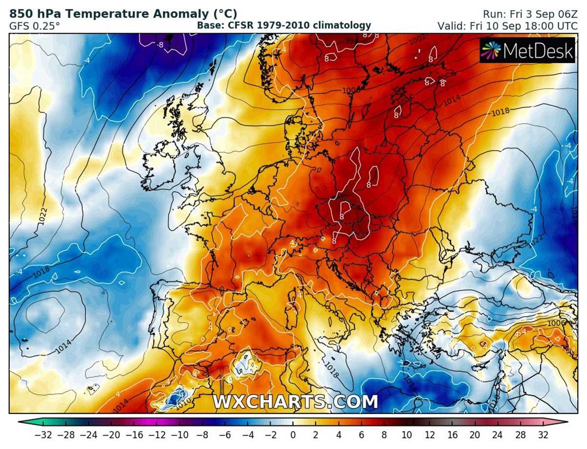 autumn-heatwave-france-england-temperature-friday
