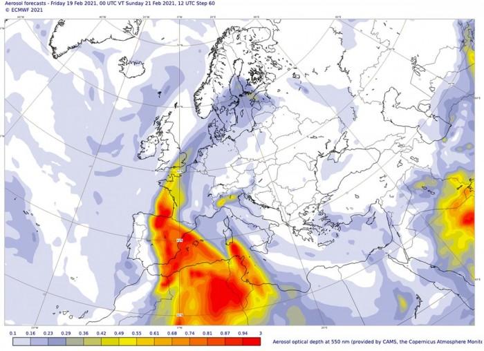sahara-dust-storm-warm-wave-europe-sunday-advection