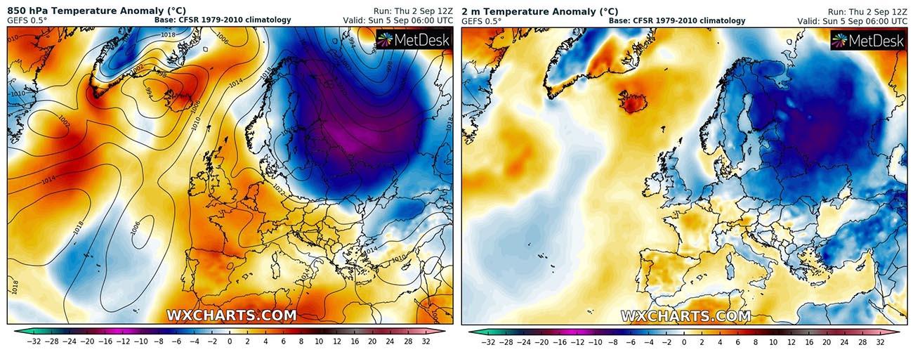 fall-2021-arctic-blast-scandinavia-temperature-sunday