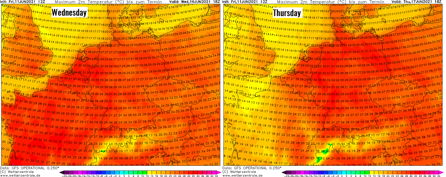 first-significant-heatwave-2021-europe-mid-week-temperatures