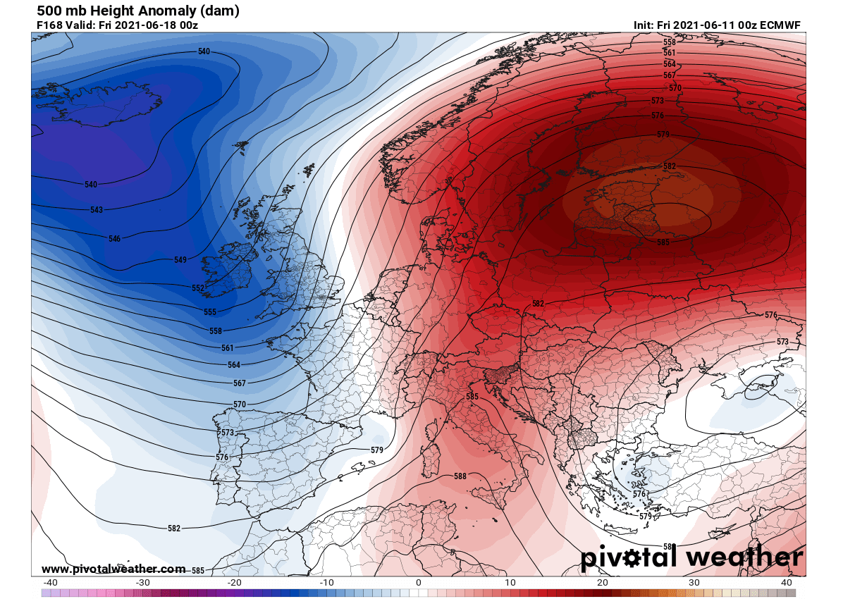 first-significant-heatwave-2021-europe-pattern-next-week