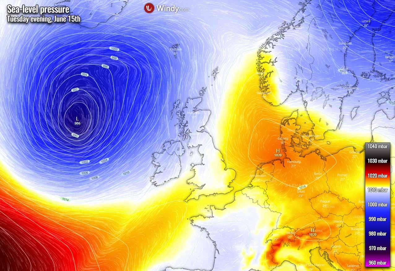 first-significant-heatwave-2021-europe-pressure-mid-week