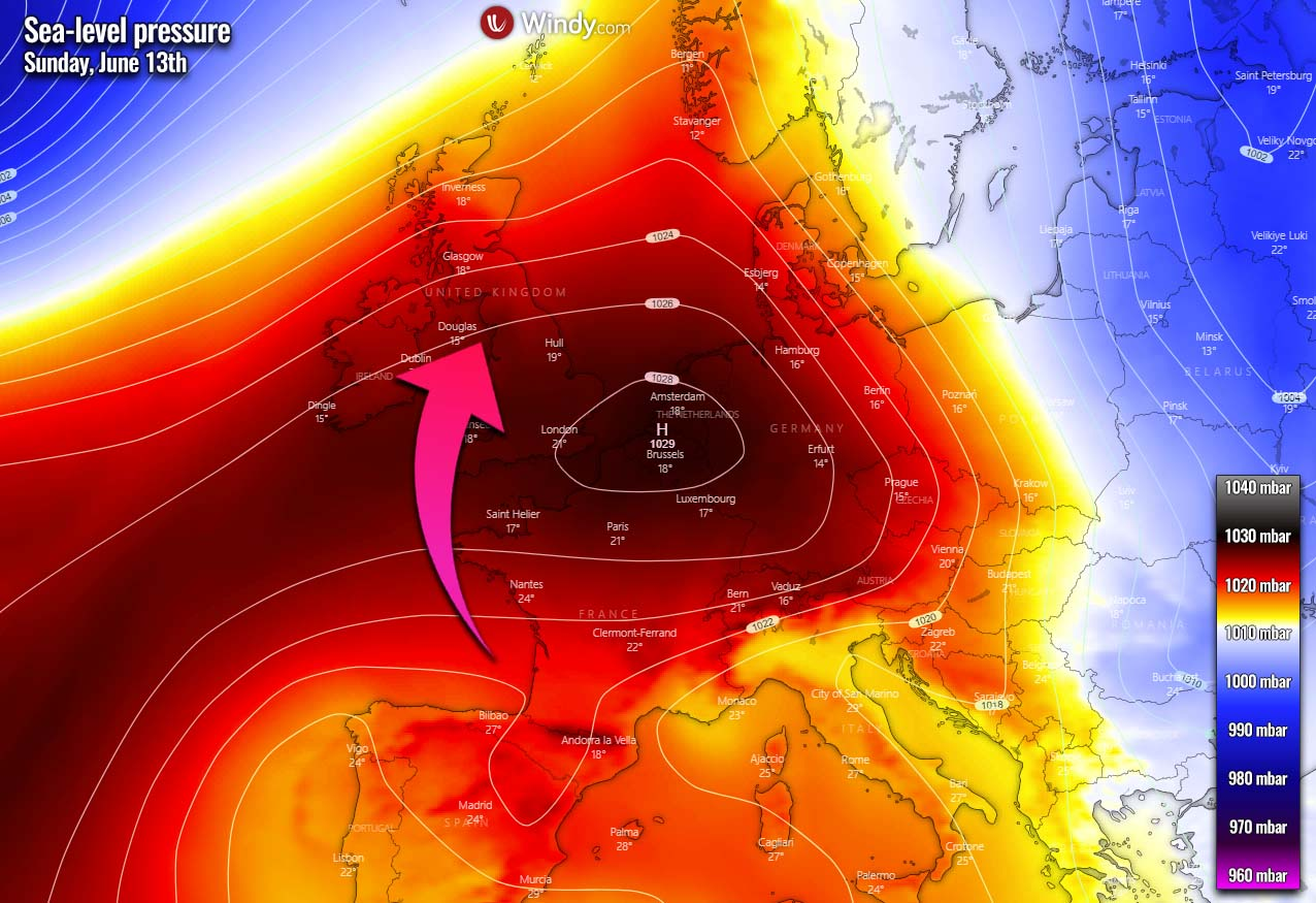 first-significant-heatwave-2021-europe-pressure-sunday