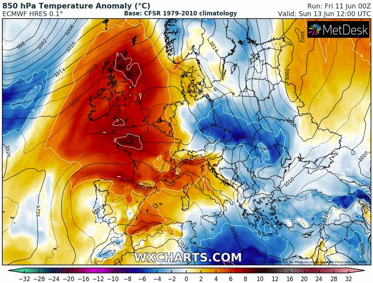 first-significant-heatwave-2021-europe-temperature-anomaly-sunday
