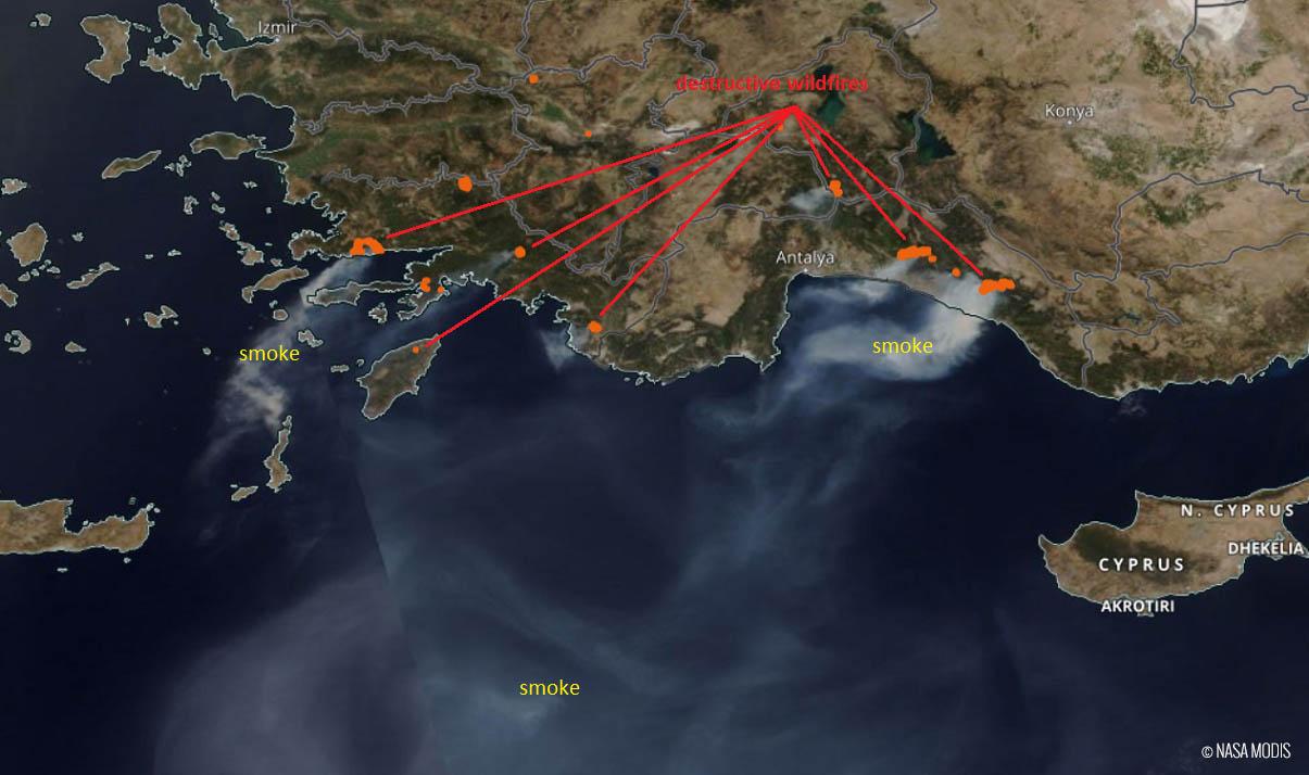 heat-dome-heatwave-greece-extreme-wildfire-threat-smoke-cloud-satellite