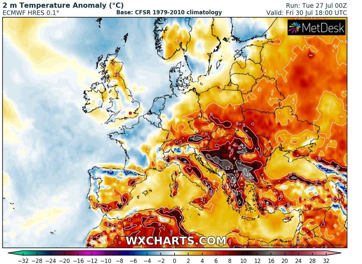 most-intense-heatwave-summer-2021-forecast-temperature-anomaly