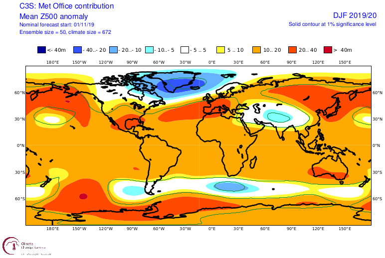Extreme Weather Events 2020.Winter 2019 2020 Final November Model Forecast For The