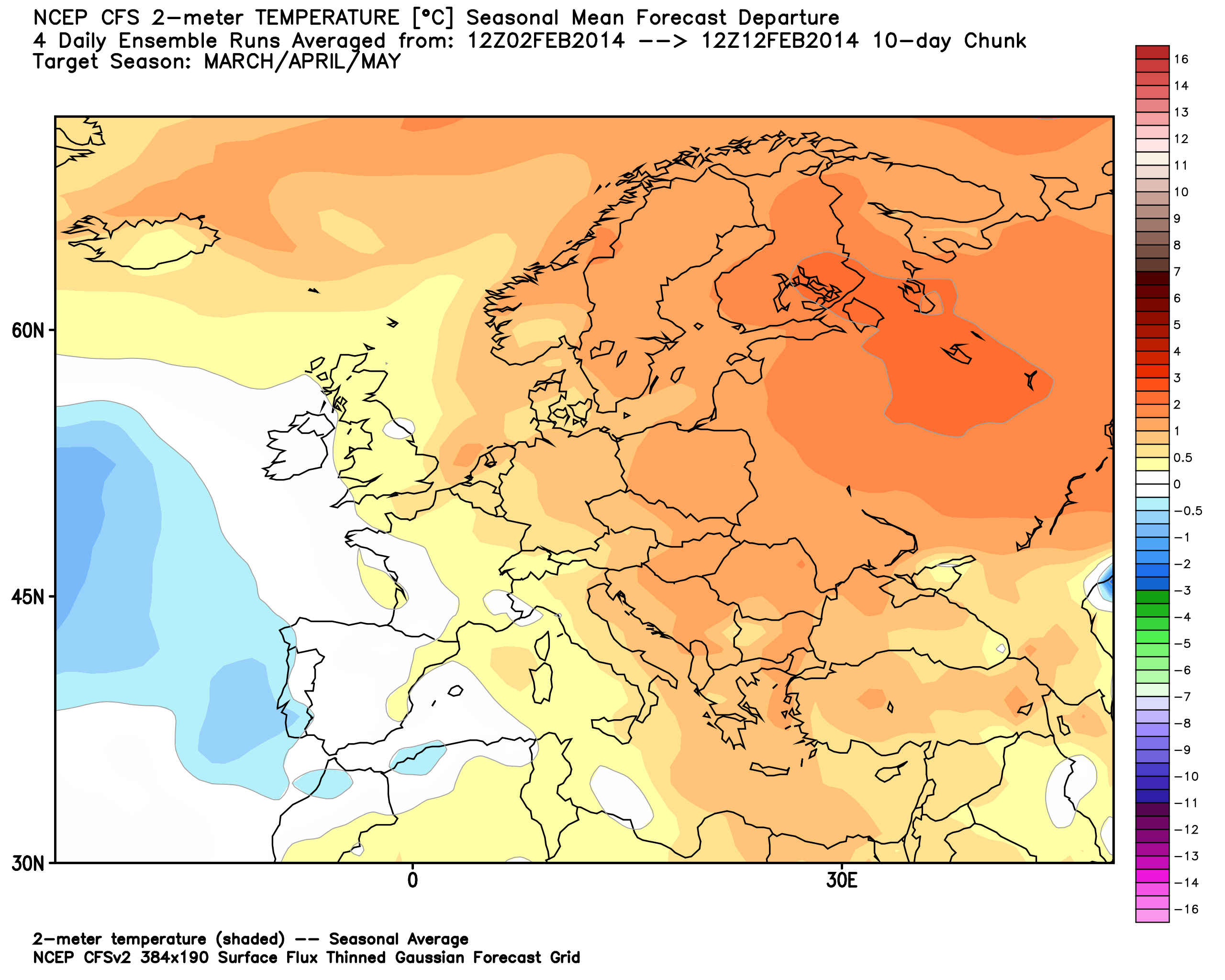 2014 Winter Weather Forecast Europe