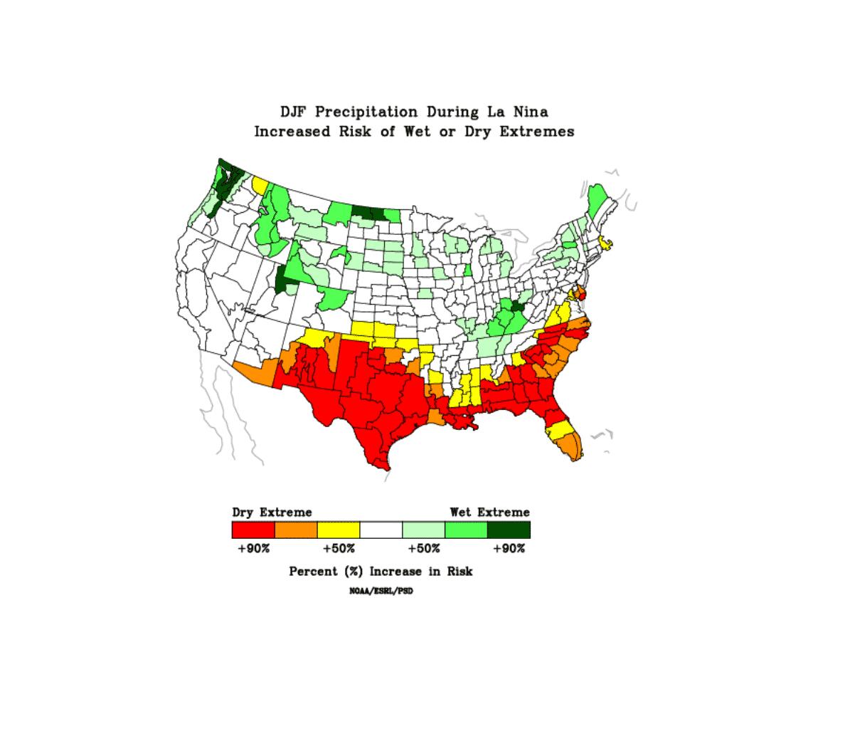 winter-forecast-season-enso-la-nina-precipitation-impact-united-states