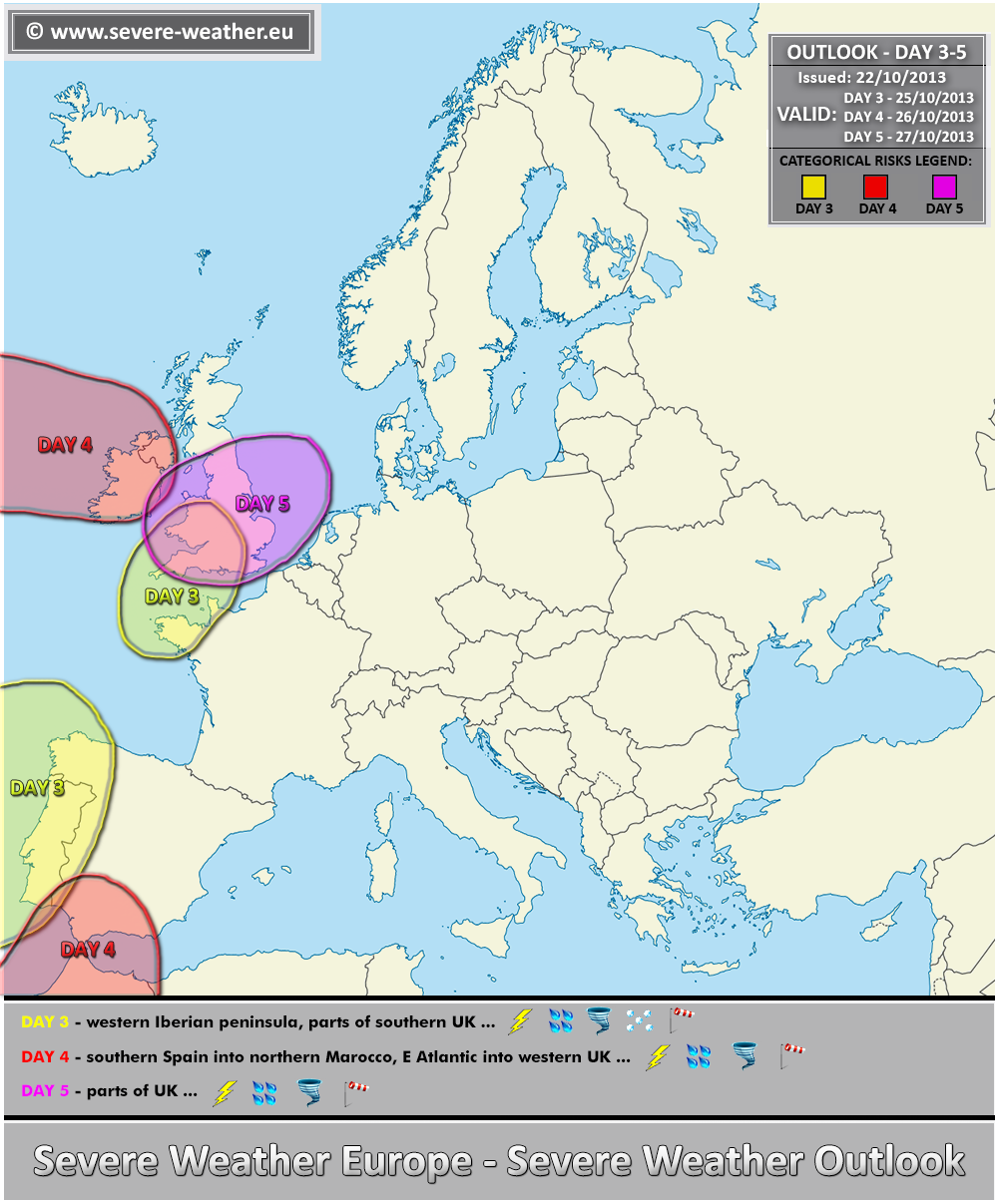 outlook day 3 5 valid 25 10 2013 27 10 2013 severe weather europe