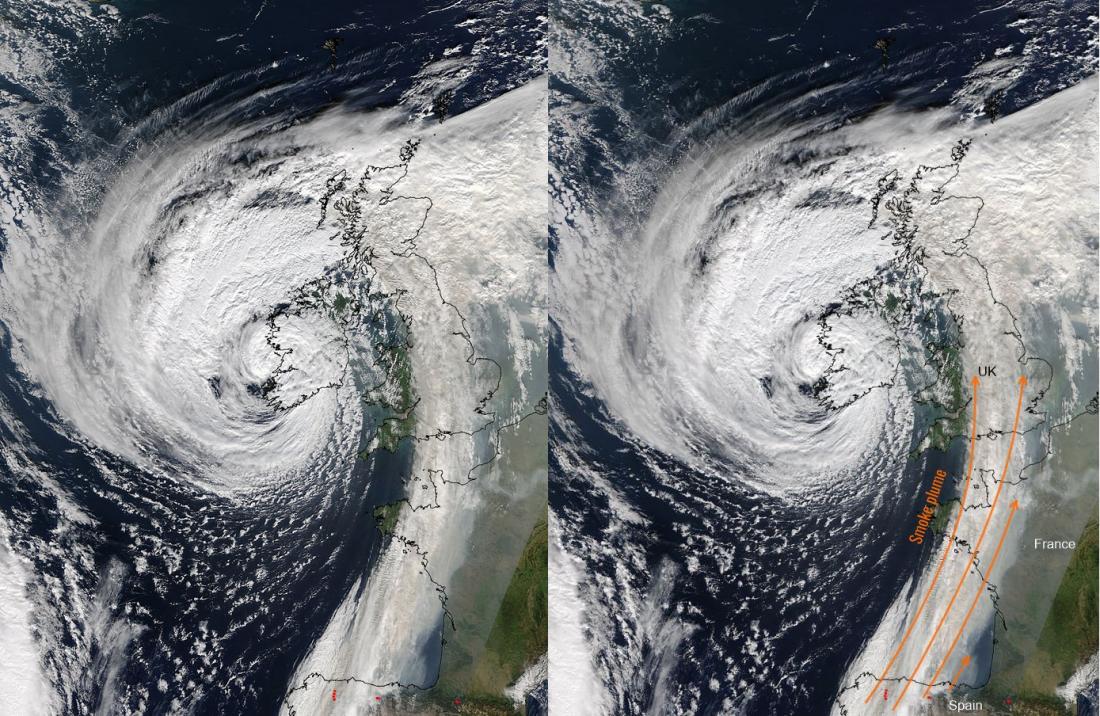 16102015_NASA_Terra_MODIS_smoke_plume_W_Europe