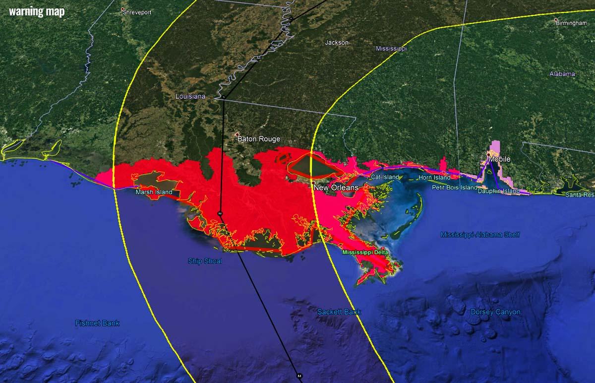 atlantic-hurricane-season-2021-ida-louisiana-warning-map