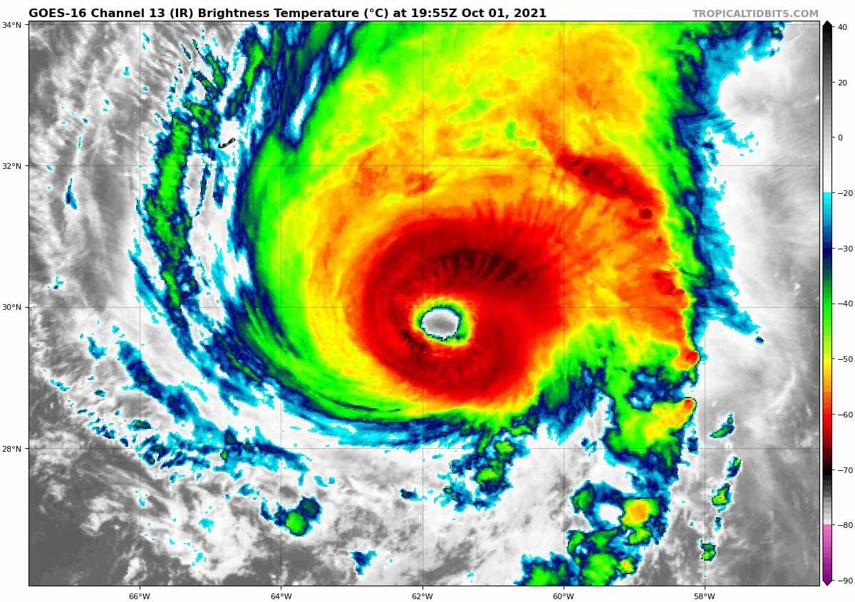 atlantic-hurricane-season-2021-most-powerful-storm-sam-bermuda-europe-infrared-satellite