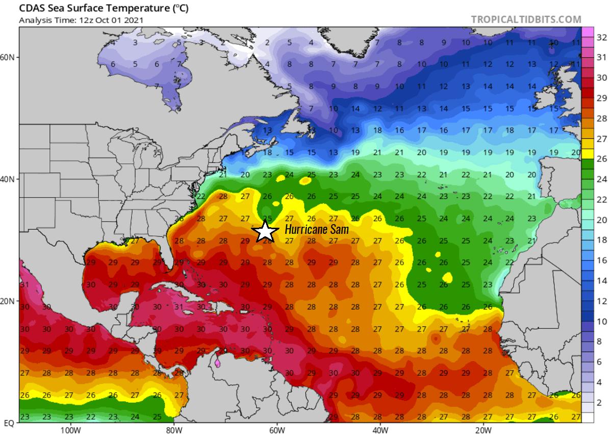 atlantic-hurricane-season-2021-most-powerful-storm-sam-bermuda-europe-sea-temperatures
