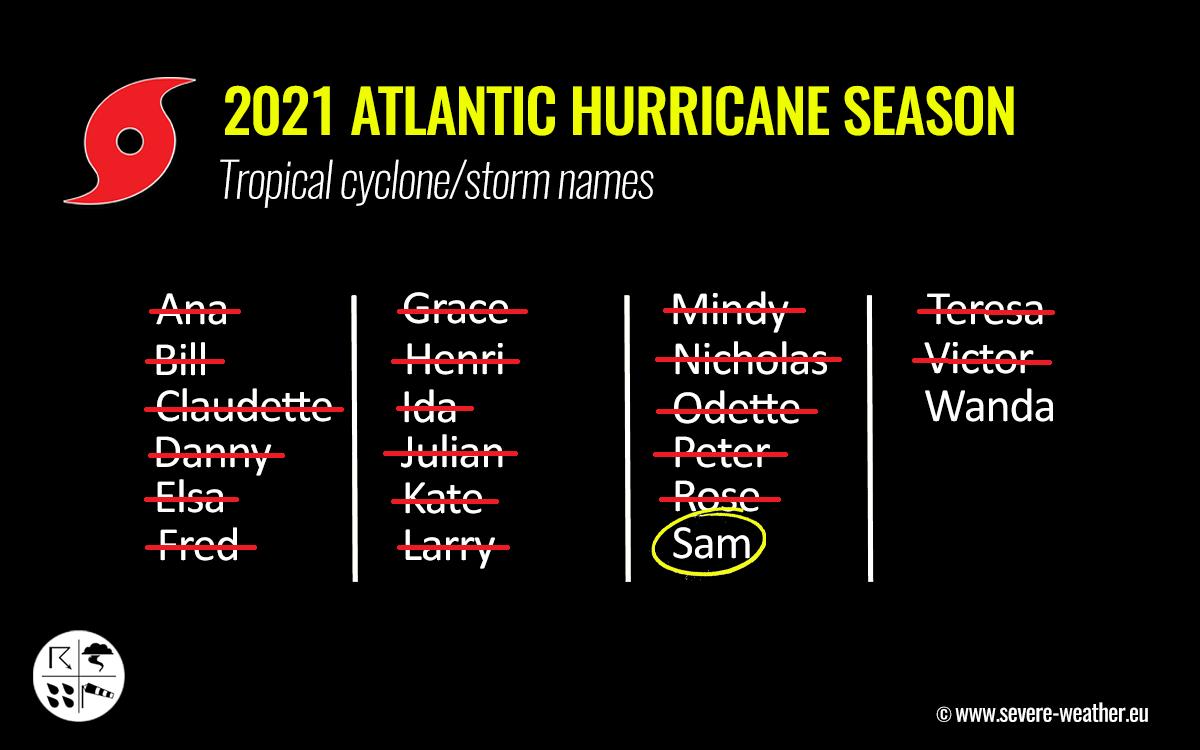 atlantic-hurricane-season-2021-most-powerful-storm-sam-bermuda-europe-tropical-cyclone-names
