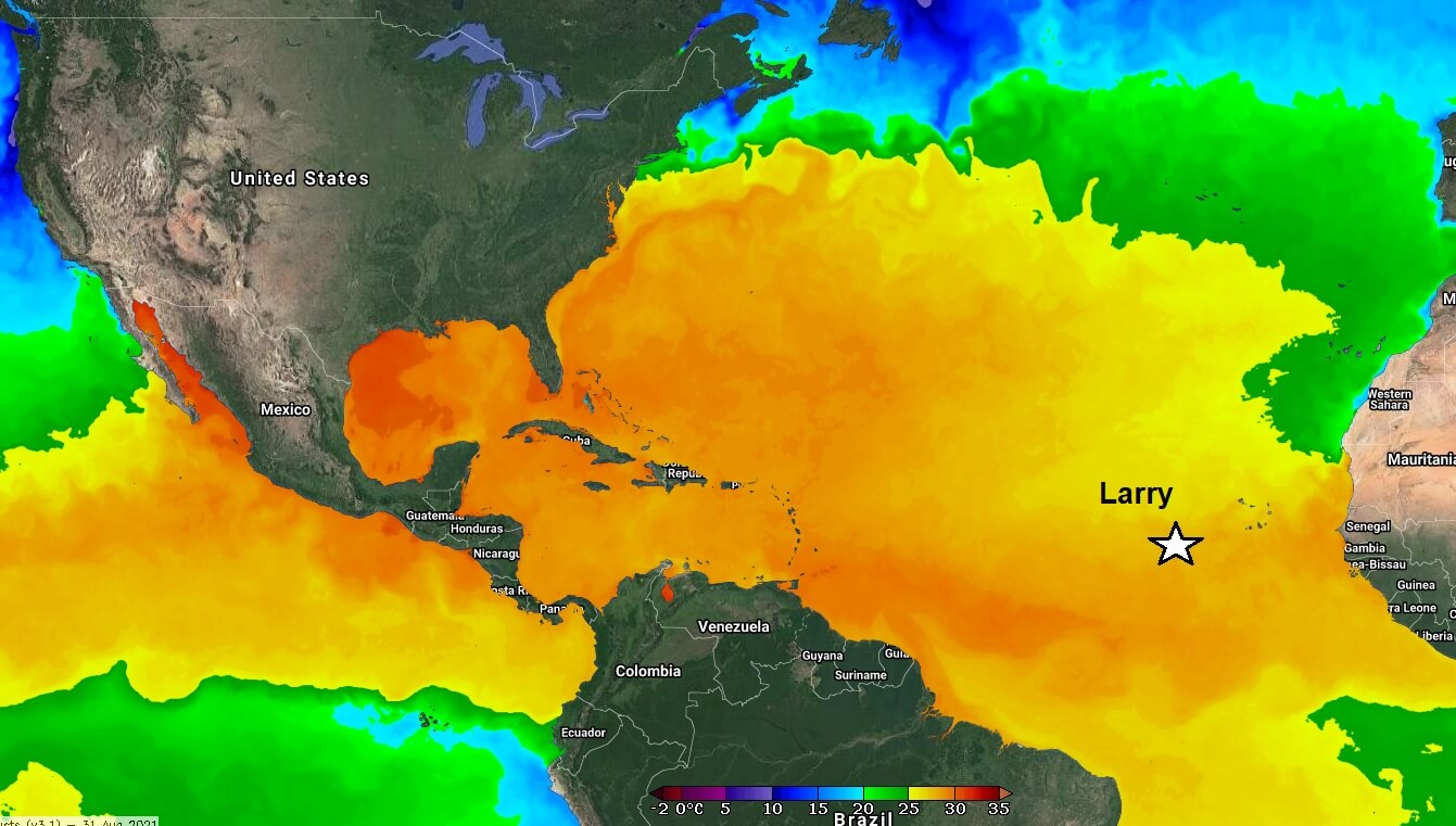 atlantic-hurricane-season-2021-storm-larry-sea-surface-temperature