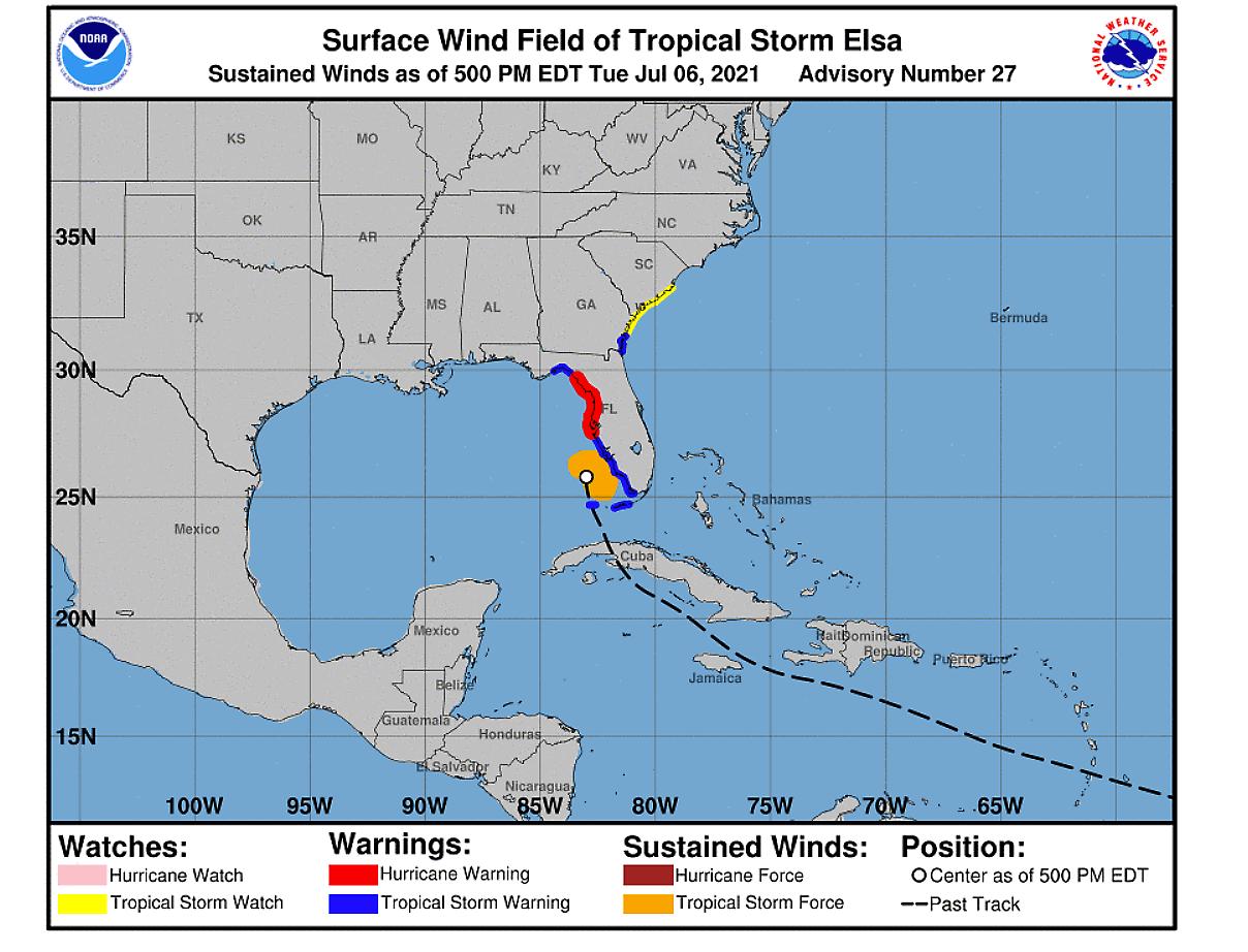 atlantic-hurricane-season-2021-tropical-storm-elsa-florida-landfall-warning-map
