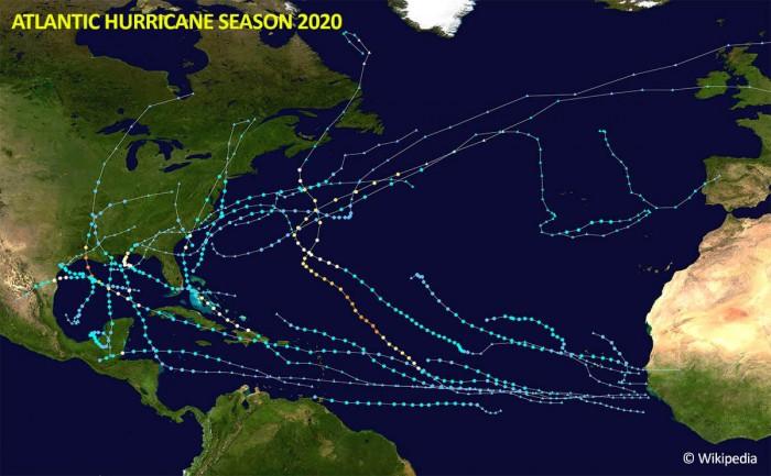 Atlantic-hurricane-season-2020-tracks