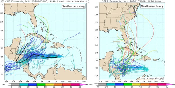 hurricane-season-storm-eta-ECMWF-versus-GFS-tracks