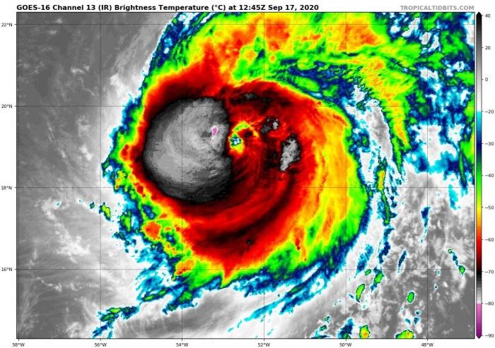 hurricane-teddy-infrared-satellite