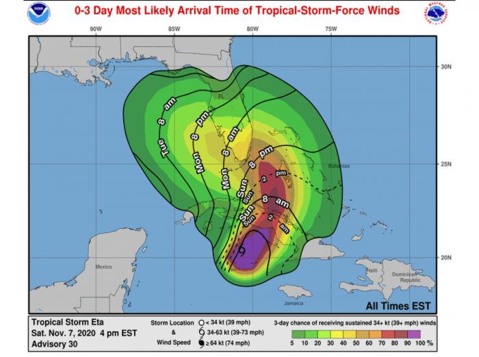 storm-eta-florida-hurricane-season-arrival-winds