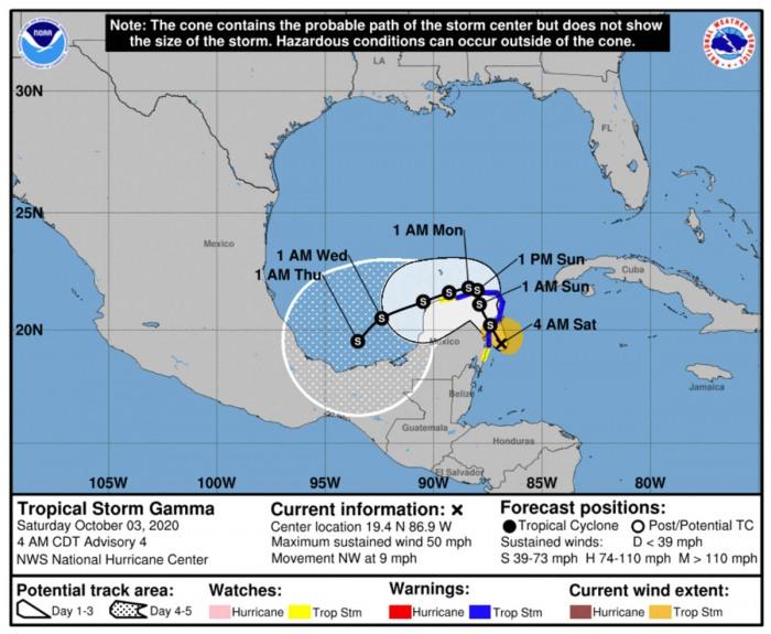 storm-gamma-nhc-track