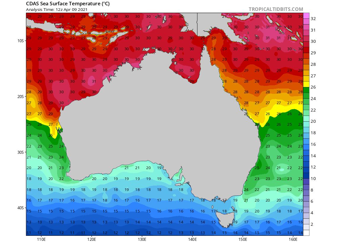 fujiwhara-effect-cyclone-seroja-odette-australia-landfall-sea-temperatures