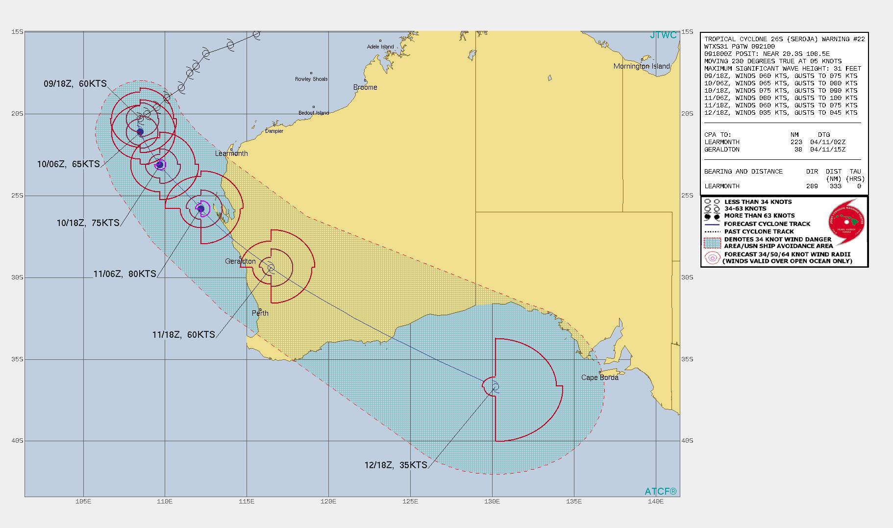 fujiwhara-effect-cyclone-seroja-odette-australia-landfall-track