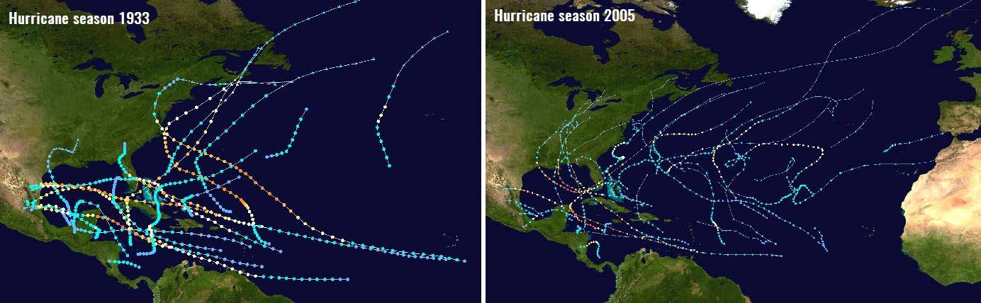 hurricane-season-2021-gulf-coast-storm-bill-1933-vs-2005